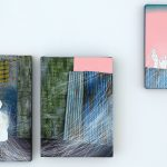 繭Cocoon壓克力顏料、油彩、色鉛筆、板上麻布22.7x15.8cm, 21.6x15.3cm, 18.0x14.0cm2020